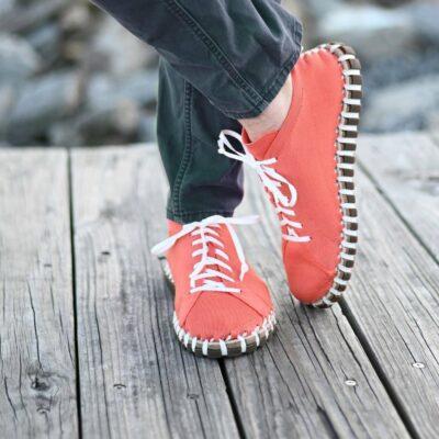Kengos men's lace up shoes in orange