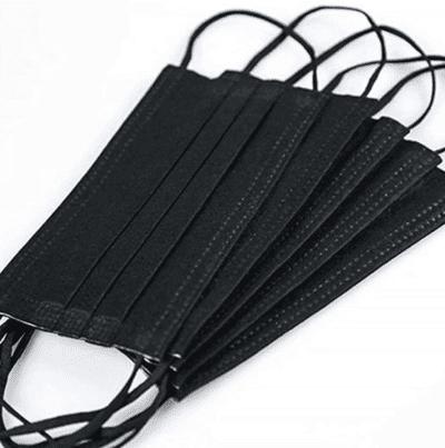 Black disposable masks for kids