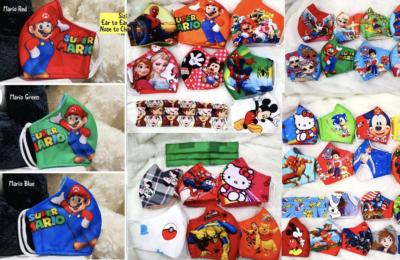 Kids character face masks