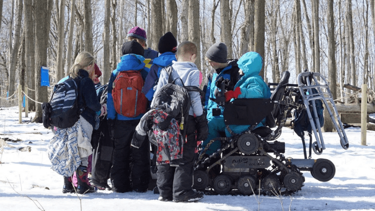 Kids Learning in Snow