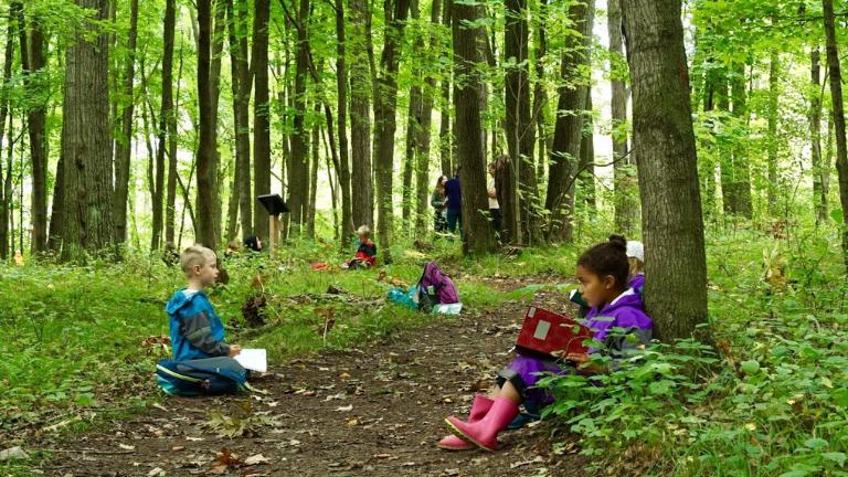 Kids Learning in a Yurt