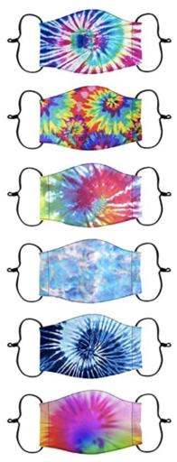 Kids tie-dye masks