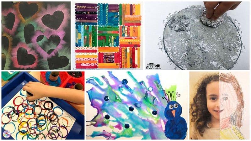 Collage of Kindergarten Art Projects