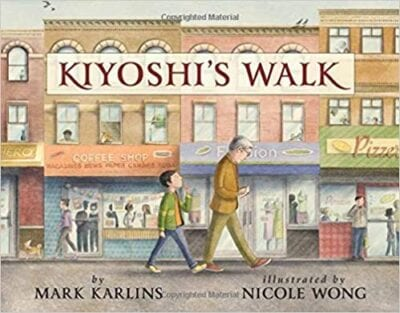 Book cover for Kiyoshi's Walk as an example of poetry books for kids