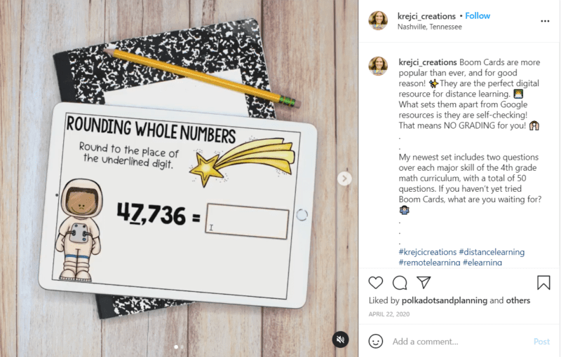 Still of fourth grade assessment ideas Instagram post