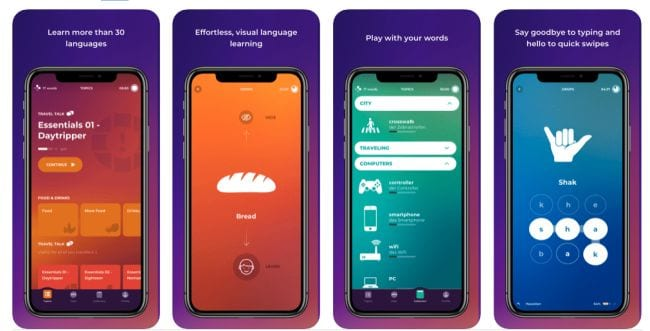 Drops and Droplets world language learning apps screenshots