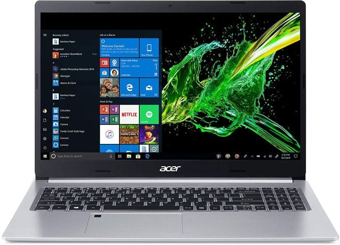 Acer Aspire 5 laptop, open to show screen and keyboard (Best Laptops for Teachers)
