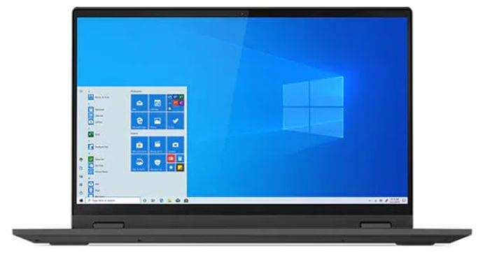 Lenovo Flex 5 2-in-1 laptop open to show screen (Best Laptops for Teachers)