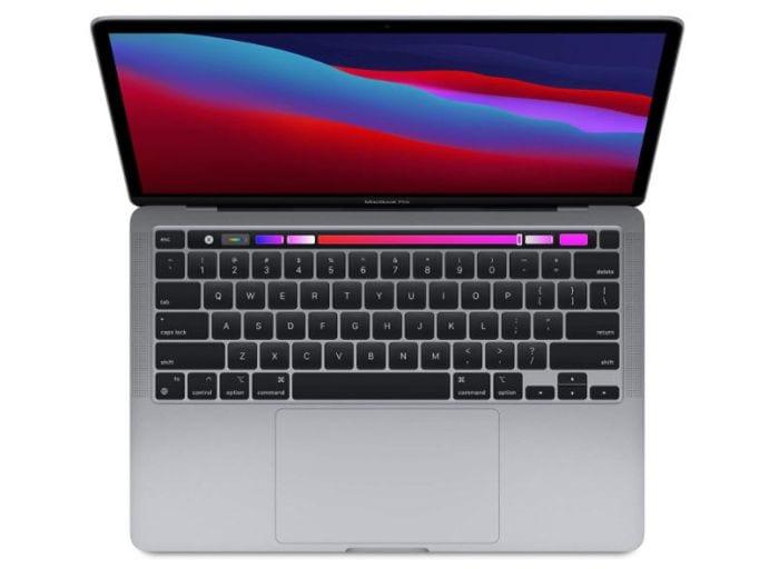 Apple MacBook Pro Laptop open to show keyboard and screen (Best Laptops for Teachers)