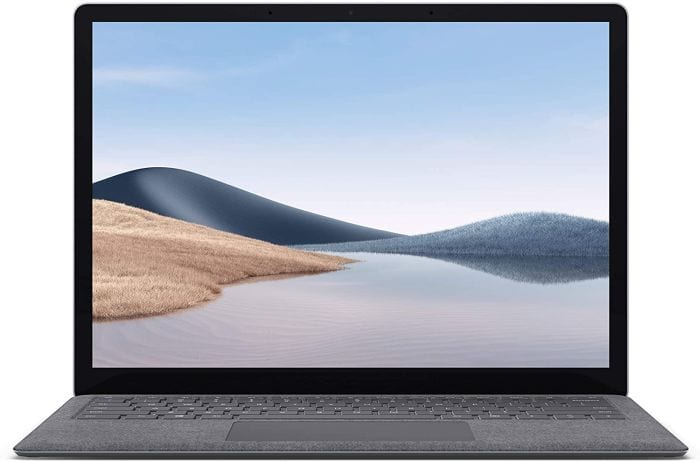 Microsoft Surface Laptop 4 open to show screen and keyboard (Best Laptops for Teachers)