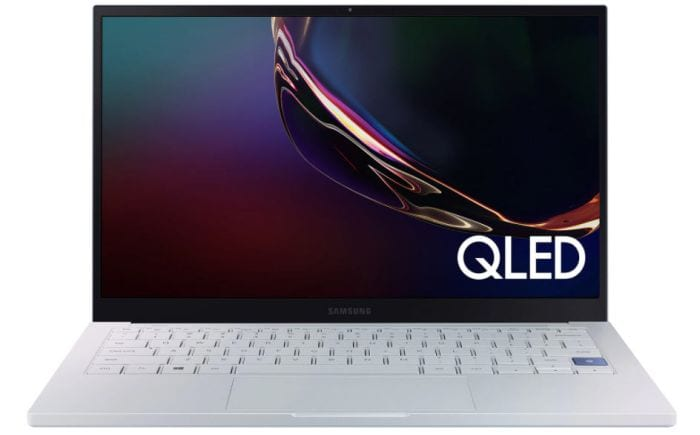 Samsung Galaxy Book Ion laptop open to show screen and keyboard