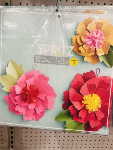 Large paper flower decoration from Target