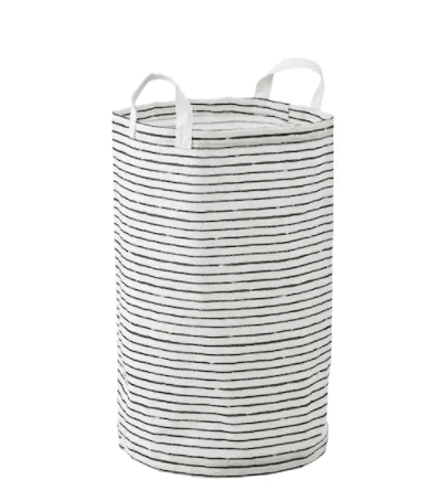 Grey and white standing laundry bag