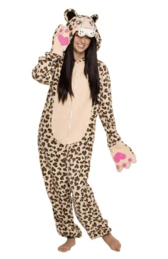Leopard adult onesie pajamas