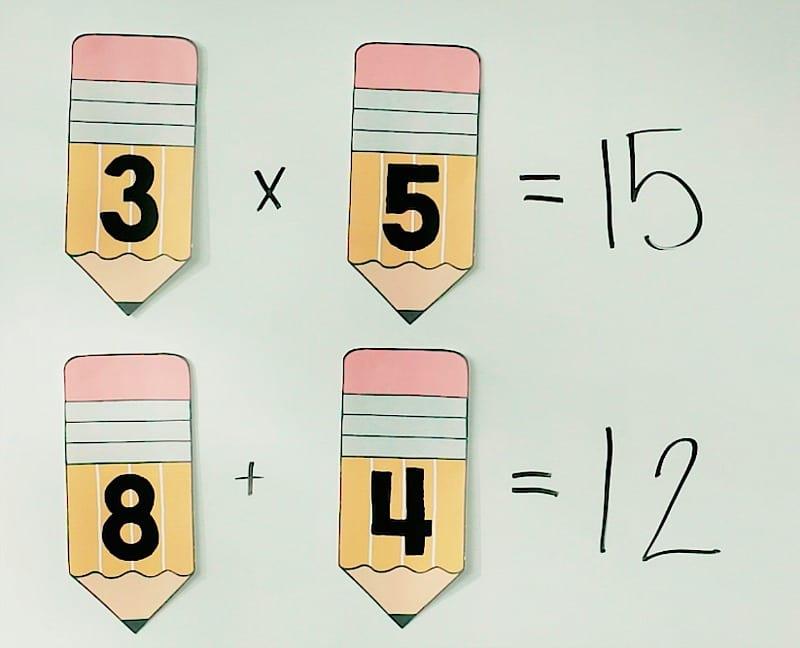 Math bulletin board planners.