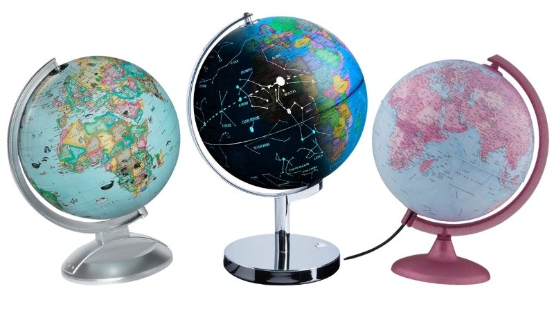 Collage of light up globes
