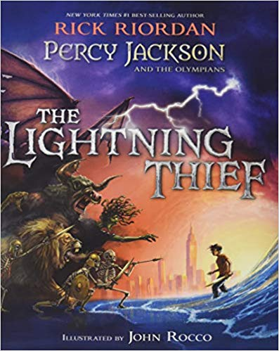 Lighting Thief book cover--middle school books