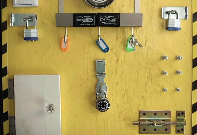 DIY_Sensory_Board_Locks