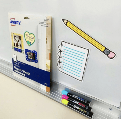Magnet paper on white board