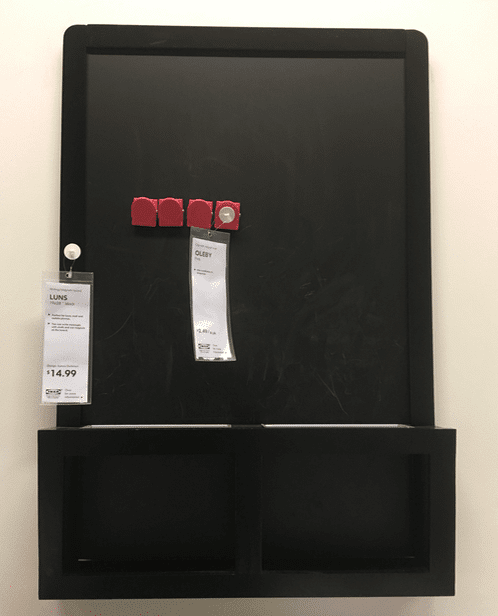 Magnetic Chalkboard - Ikea Classroom Supplies