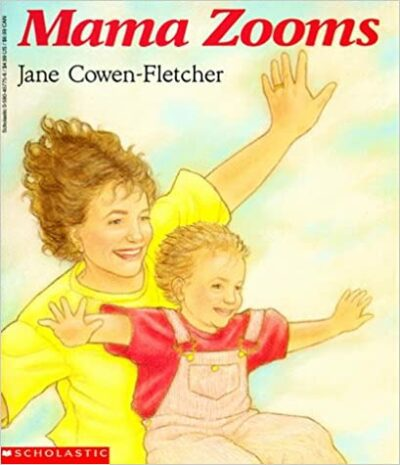 Book cover for Mama Zooms as an example of children's books about disability