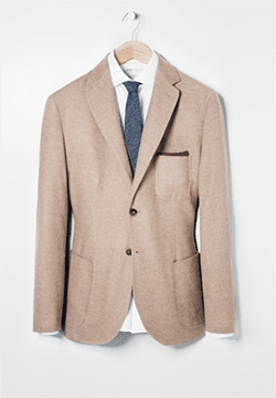 MANGO men's brushed cotton blazer