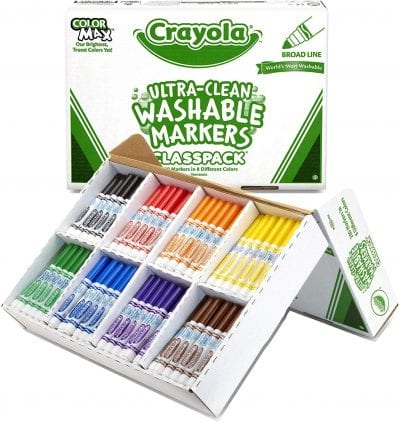 Large Crayola box with Ultra-clean Washable Markers.