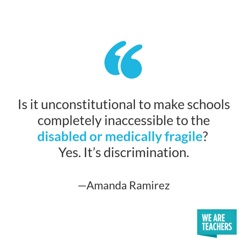 Is it unconstitutional to make schools completely inaccessible to the disabled or medically fragile? Yes.