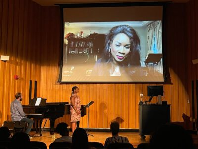 Guest artist opera singer Denyce Graves in a master class