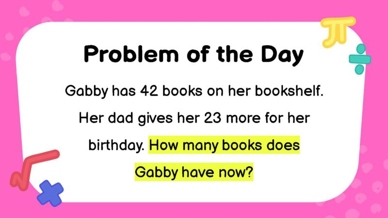 Addition third grade math word problem