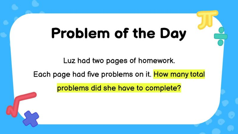 Multiplication third grade math word problem