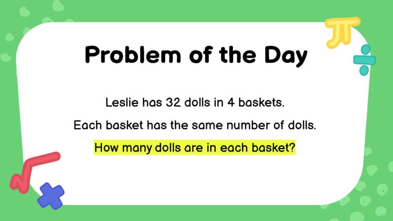 Division third grade math word problem