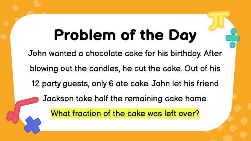 Fractions third grade math word problem
