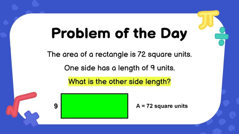 Geometry third grade math word problem