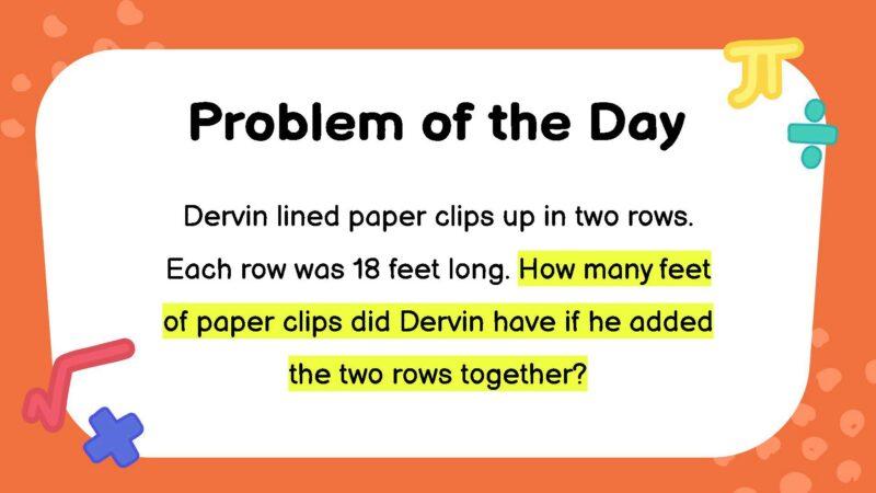 Third grade math word problem