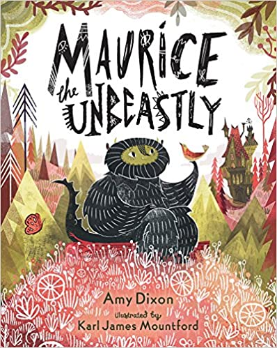 Book cover for Maurice the Unbeastly as an example of kids books about monsters