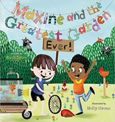 Book cover for Maxine and the Greatest Garden Ever as an example of books about teamwork for kids