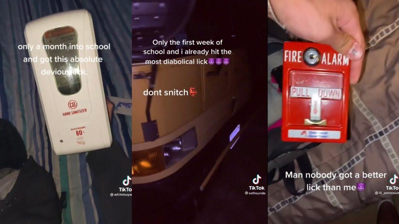 Screenshots from the latest dangerous tiktok challenge