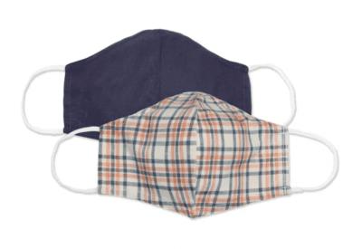 Men's fabric face masks 2-pack