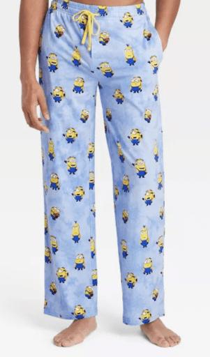 Men's minion pajama pants