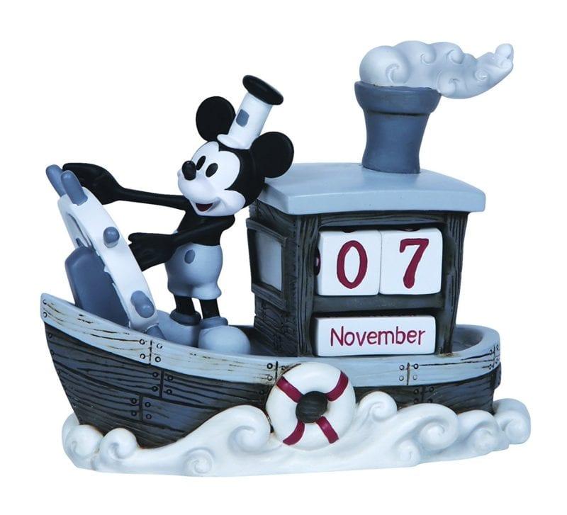 "Precious Moments, Disney Showcase Collection, ""Mickey Mouse Perpetual Calendar"", Resin Figurine"
