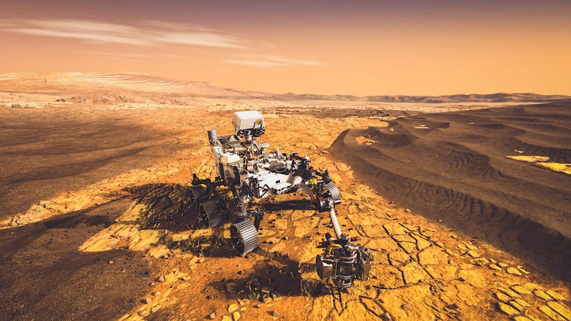 Rover on Mars for Mission to Mars activities