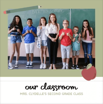 Our classroom photobook cover