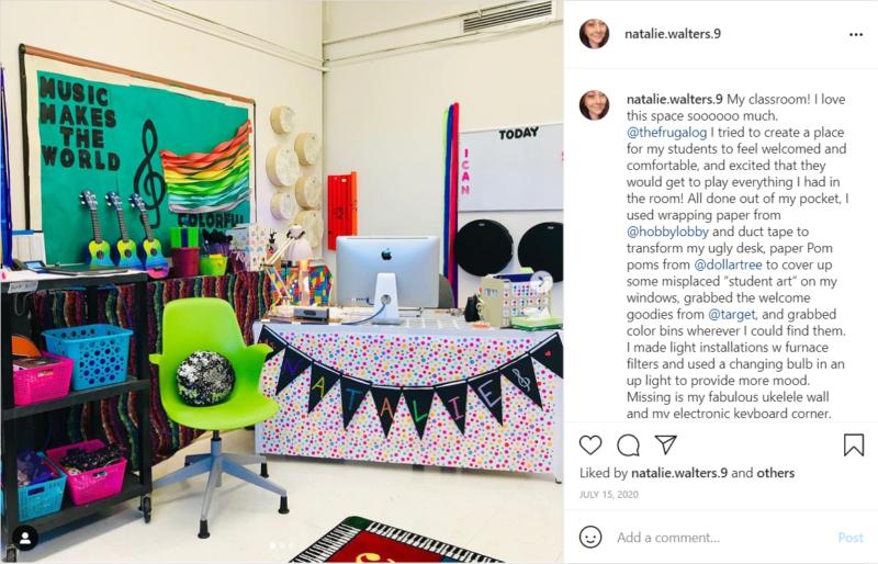 Budget music room makeover money-saver classrooms idea