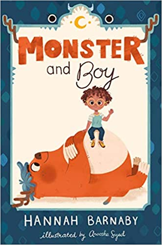 Book cover for Monster and Boy book 1 as an example of kids books about monsters
