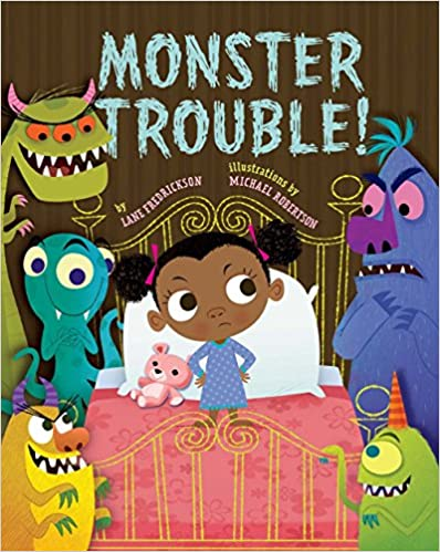 Book cover for Monster Trouble! as an example of kids books about monsters
