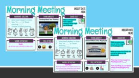 Two morning meeting Google Slides for January