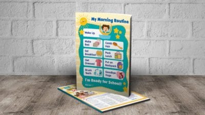 Morning routine poster for students