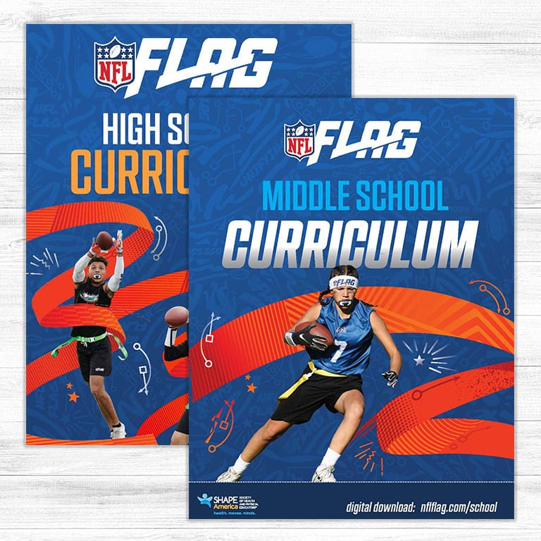 Flag Football curriculum for middle and high schools.
