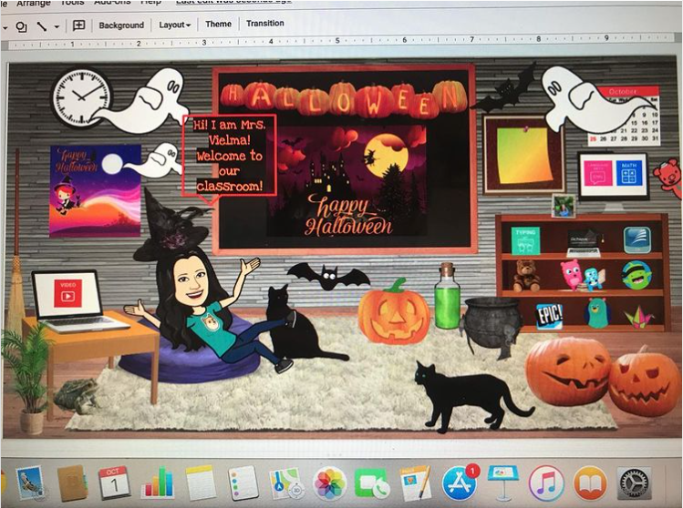Halloween Bitmoji Classrooms